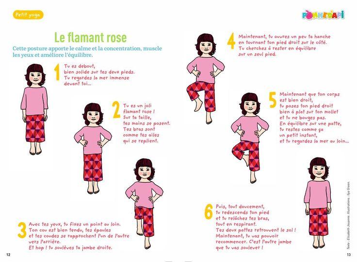 yoga des petits - Le flamant rose