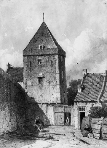 The Goilberdingenpoort in Culemborg Su - Johan Hendrik Weissenbruch
