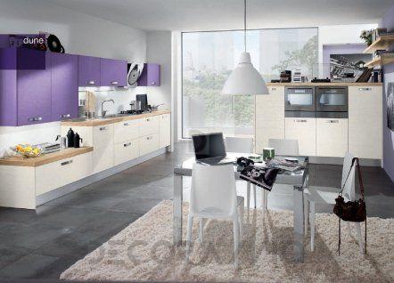 #violet #purple #kitchen #furniture #design #interior #style комплект в кухню Concreta Cucine Dune, Conc43