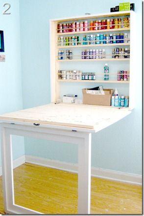 craft room design ideas,  featured on remodelaholic.com #craft #design #ideas