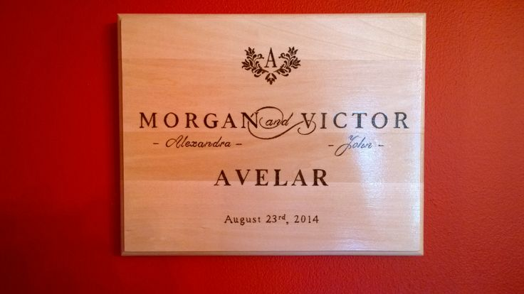 Pyrography - Wedding Gift for my sister-in-law.  By E.Klassen