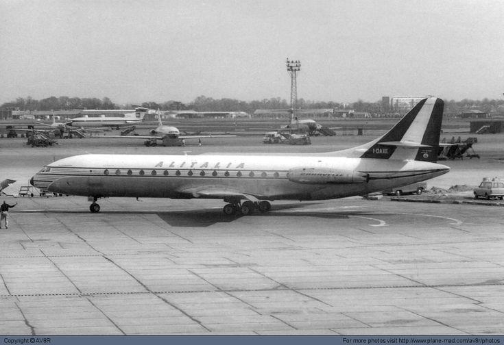 Alitalia Sud Aviation Caravelle VI-N I-DAXE at London Heathrow