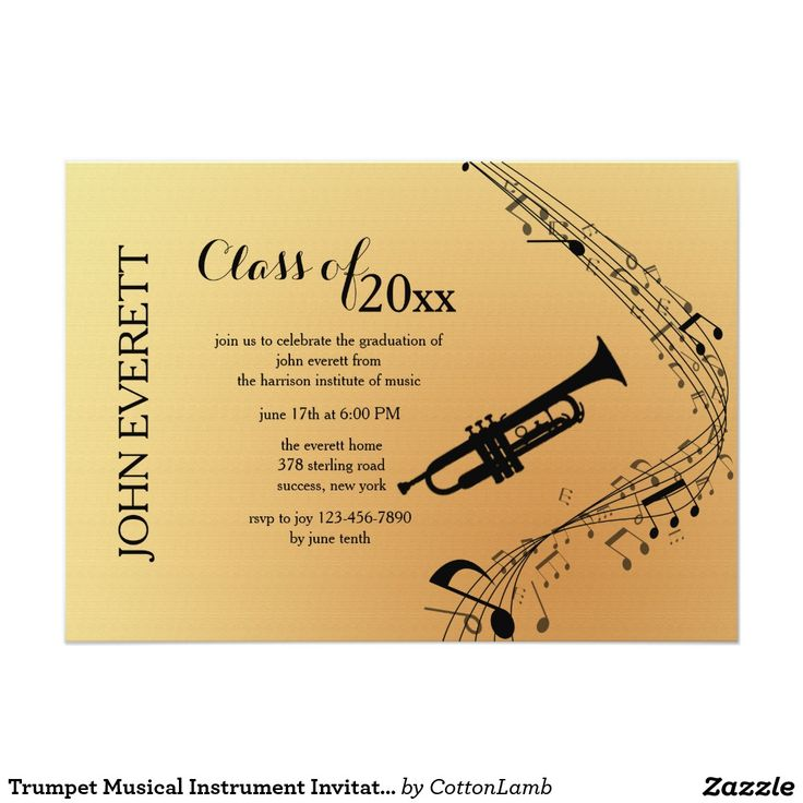 24 best music recital images on pinterest piano recital trumpet musical instrument invitation thecheapjerseys