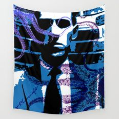 H. P. Lovecraft Poster Wall Tapestry by Scar Design #lovecraft #tapestry #bookworm #giftsforhim #giftsforher #walltapestry #homedecor #horror #booklovers #cthulhu