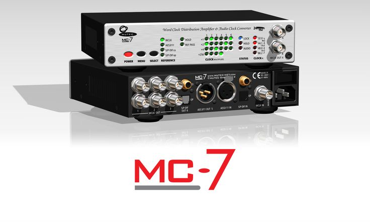 The MUTEC MC-7 is a flexible, high-performance distribution amplifier and audio clock converter for Word Clock, AES3/11, and S/P-DIF signals. Its clock recovery and regeneration technology via audiophile-optimized PLL circuits improves the sound quality of most connected digital devices at a wide range of sample rates including Digidesign's Super Clock.