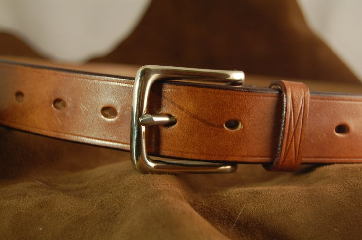 Our beautiful Oak Brown bridle leather tanned by J & FJ Bakers of Colyton, Devon made with a solid Nickel West End