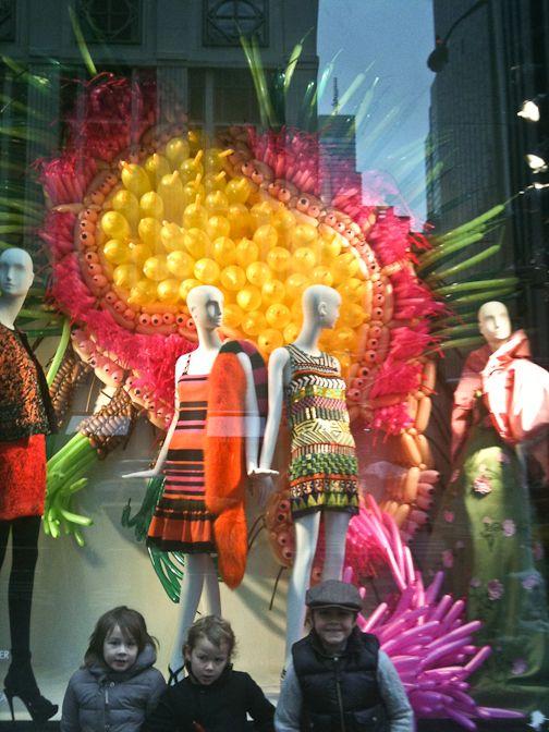 Window displays at Bergdorf's