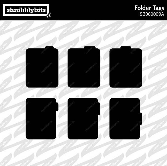 12 Folder Tags