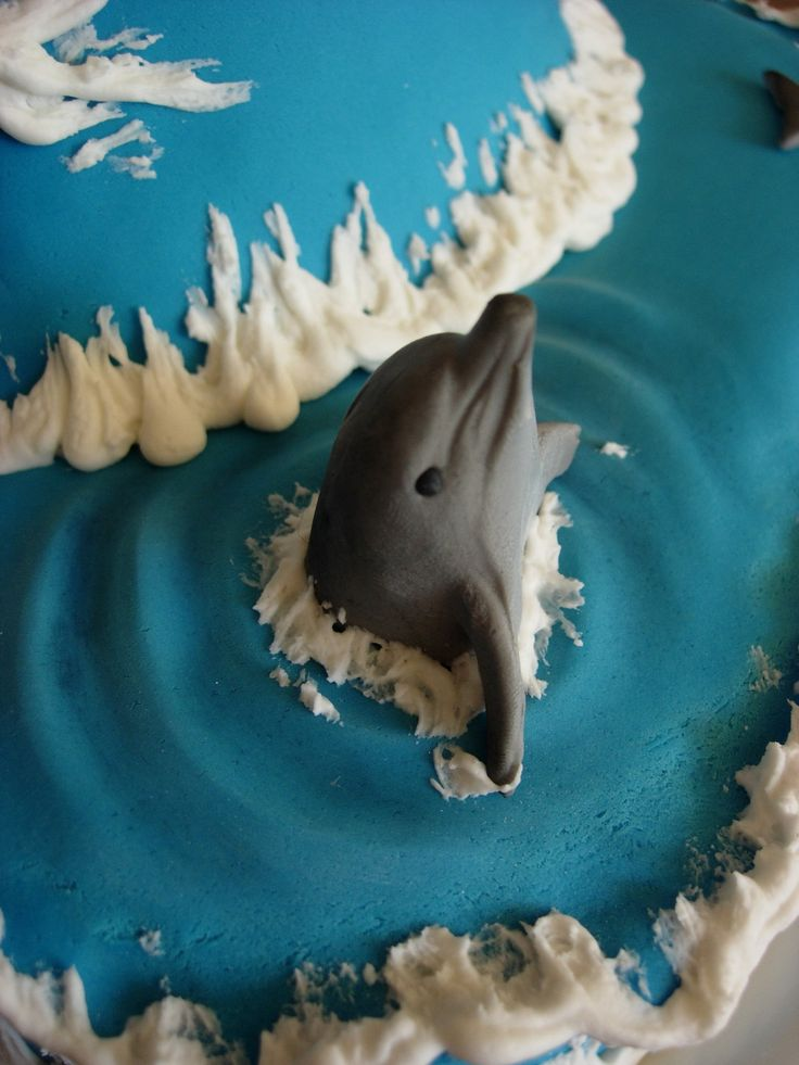 Dolphin Birthday Cake For Our 8 Year Old Daughter - CakeCentral.com