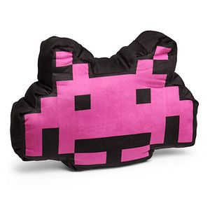 It's a Space Invaders invader to put on your couch. And then bit by bit, move it closer to your guest until they throw a ball of socks at it.