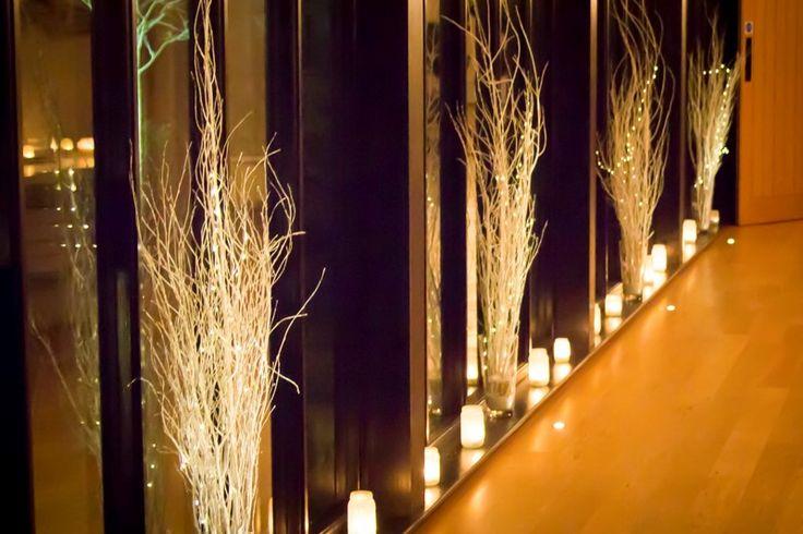 Glass walk way all lit up #thegranarybarns