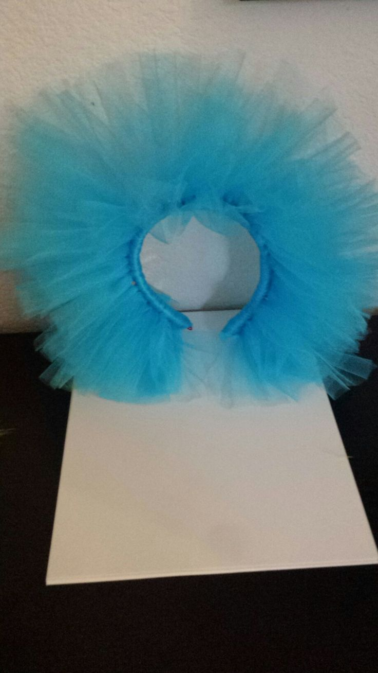 Thing 1 Hair made out of tulle and a handband