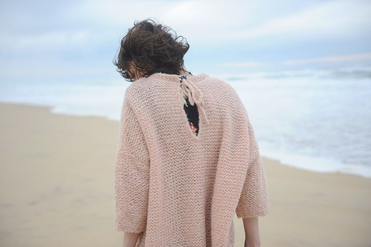 Stella Forest, pink Micky sweater in Mohair and Wool.