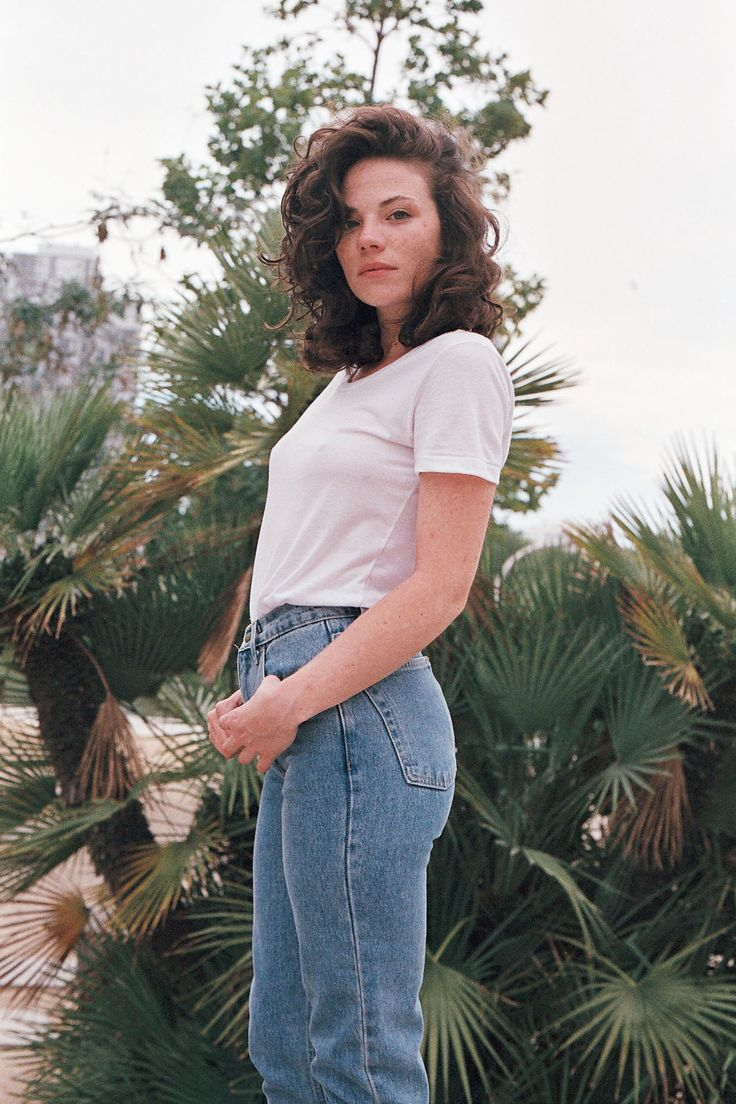 mom jeans can be very nice if styled right....pair them with a slightly loose solid white tee and boots or converse sneakers.