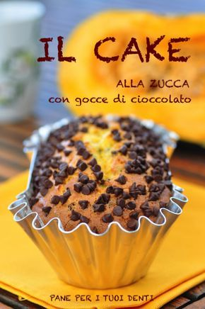 Cake alla zucca con gocce di cioccolato
