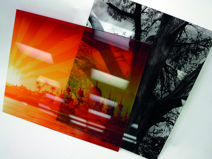 Decorated glass direct print on the canon océ arizona flatbed system