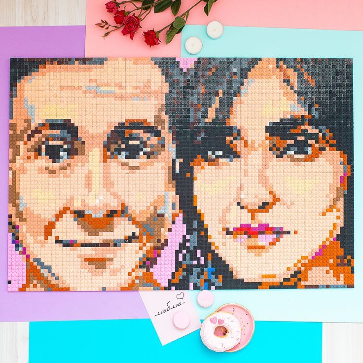 Custom Mosaic Portrait Wedding Gift Mosaic portrait