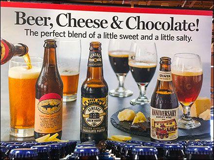 beer cheese and chocolate cross merchandising - Beer Merchandiser