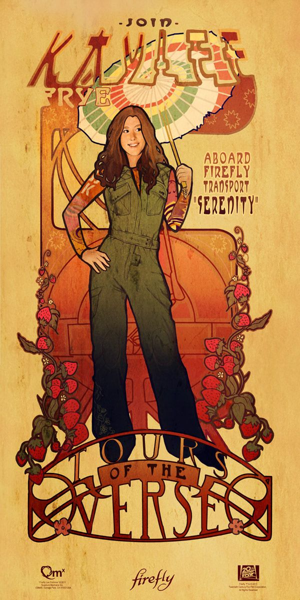Art Nouveau FIREFLY Prints from Quantum Mechanix (http://store.qmxonline.com/Firefly-and-Serenity_c_1.html) - Kaylee