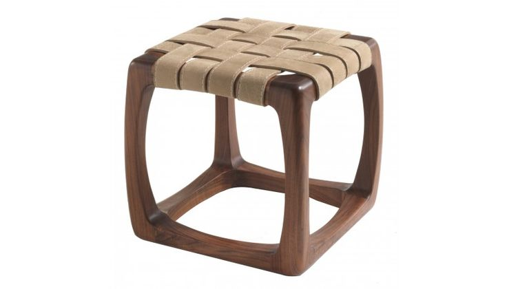 Riva 1920 Bungalow Stool In Walnut And Utah Kanyon Leather