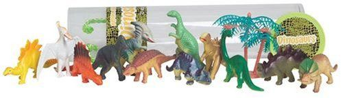 Nature's Creatures Mini Dinosaurs, 13 Piece Kit by D & D Distributing. $4.95. Includes 13 Mini Dinosaurs. Mini Dinosaur Play Kit. Fun and Educational. This is a canister containing 13 mini Dinosaur figurines. Not only are they fun toys to play with but they are educational as well. They come packaged in a clear carrying case and easy for gift giving. Save on shipping costs by purchasing Nature's Creatures Sea Life and Wild Life products.. Save 50%!