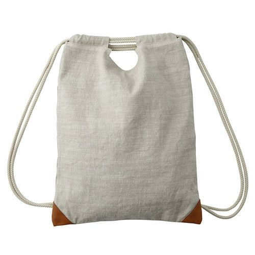 Pre Sale MOMA MUJI 2way Linen Cotton Backpack Bookbag Daypack Bag Japan 134 | eBay