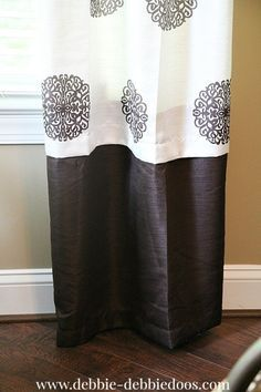 How to lengthen curtains without sewing!                                                                                                                                                                                 More