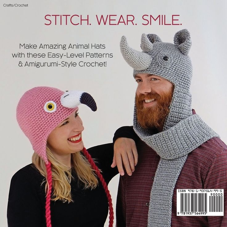 Amigurumi Animal Hats : 708 best images about craft patterns on Pinterest Free ...