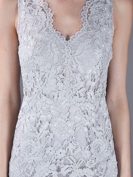 Grey Lace Dkny Dress