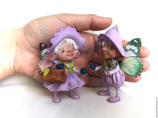 Коллекционные куклы ручной работы. Ярмарка Мастеров - ручная работа. Купить Черничные феи. Handmade. Сиреневый, сказочные существа