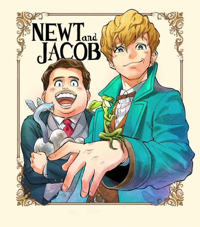 Les Animaux Fantastiques dessiné par le mangaka Yusaku Shibata
