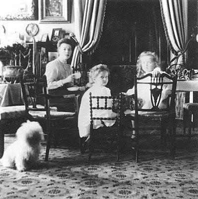 Olga and Tatiana with their Aunt Olga Alexandrovna Sister of Nicholai ll.
