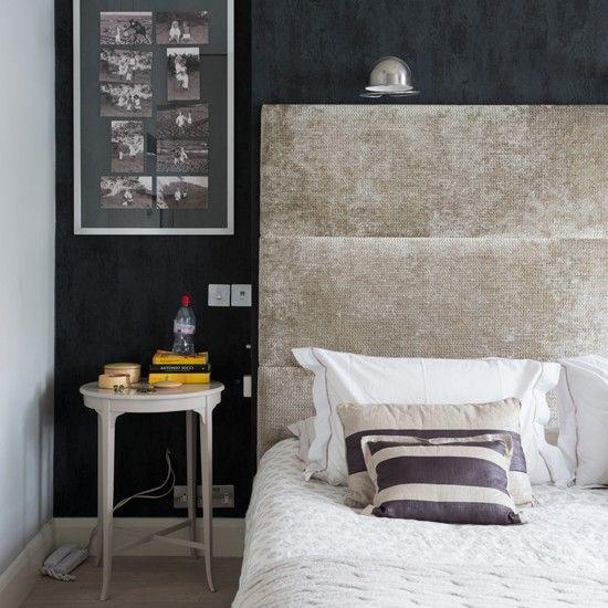 Headboard, Grey Walls