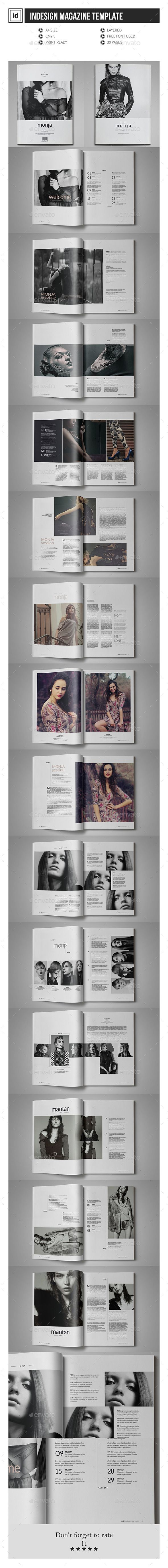 Multipurpose InDesign Magazine Template — InDesign INDD #elegant #a4 • Available here → https://graphicriver.net/item/multipurpose-indesign-magazine-template/12046872?ref=pxcr