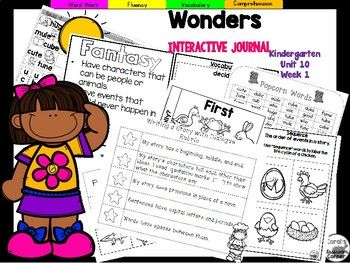 Coral's Corner has heard your feedback and is happy to present an Interactive Journal MEGA BUNDLE for Kindergarten McGraw Hill Wonders Unit 10!This 64 page Kindergarten interactive journal is aligned to Common Core and to the McGraw Hill Wonders series for Unit 10!.