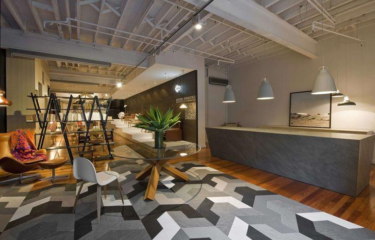 Bolon floor tiles in the Corporate Culture Showroom in Sydney, Australia