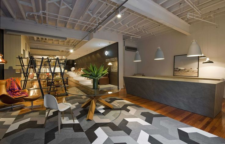 Bolon floor tiles in the Corporate Culture Showroom in Sydney, Australia