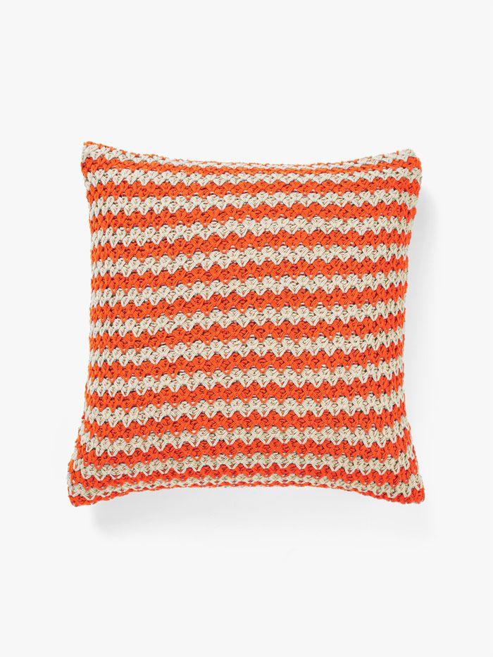 Stripey Knit Cushion