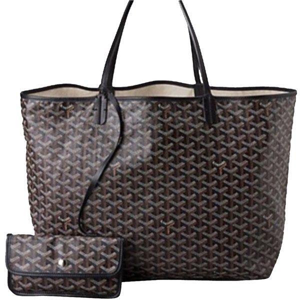 """Pre-owned Goyard Gm """"large"""" Black Tote Bag ($1,394) ❤ liked on Polyvore featuring bags, handbags, tote bags, black, preowned handbags, pre owned purses, pre owned handbags, goyard purse and goyard tote bag"""