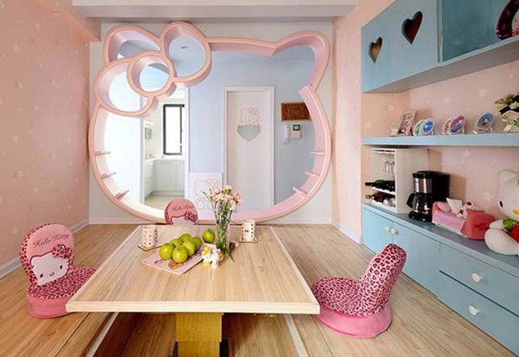 Unique Hello Kitty Room Design ~ http://www.lookmyhomes.com/hello-kitty-room-designs-ideas-for-girl/
