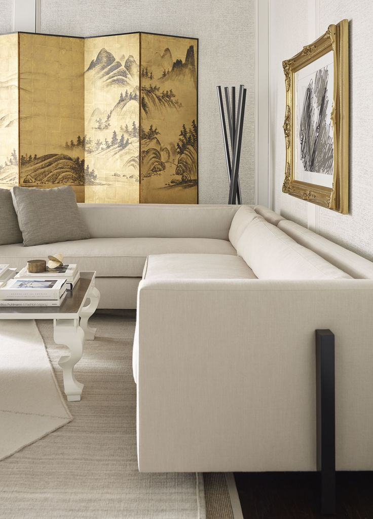Darryl Carter | This Room Scene Features The Porter Sectional, Trey  Cocktail Table, Sticks