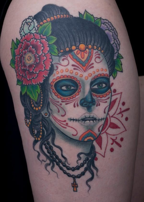 60 day of the dead tattoos you will want to get asap - 600×840