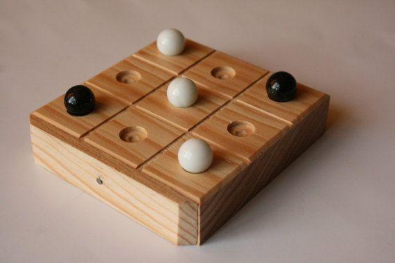 Gato Tic tac toe Tres en línea juego de madera con