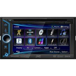 JVC Mobile KW-V200BT Arsenal KW-V200BT Multimedia/DVD/CD/USB receiver. Remanufactured and repacked by JVC. Includes all harnesses, manuals, and insatllation hardware as new. Ships fast Ships Free!. Bluetooth(R) Wireless Technology (Built-in). Rear USB Port (MP3/WMA/WAV, JPEG, DivX(R)/MPEG1/MPEG2, iPod/iPhone Audio Compatible). DVD/CD Playback (MP3/WMA/WAV, JPEG, DivX(R)/MPEG1/MPEG2 Compatible). Front AUX-IN.