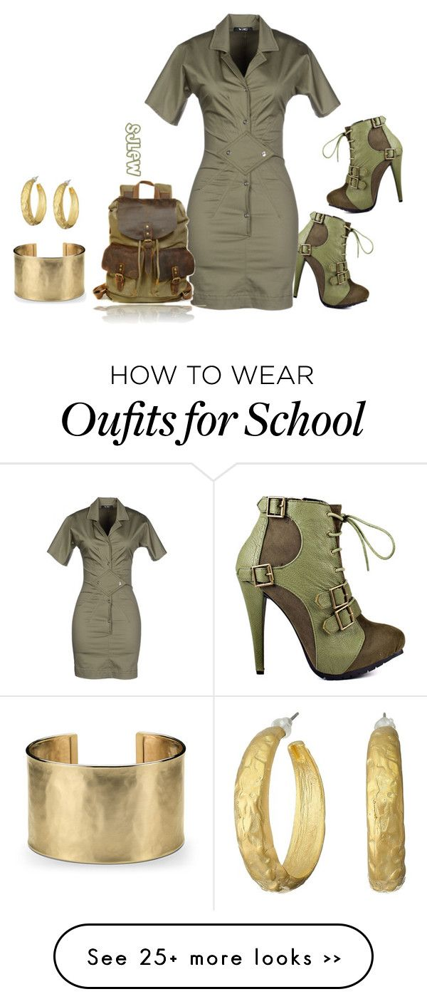"""""""Back To School"""" by sjlew on Polyvore featuring Promise Shoes, Versace Jeans Couture, Blue Nile and Kenneth Jay Lane"""