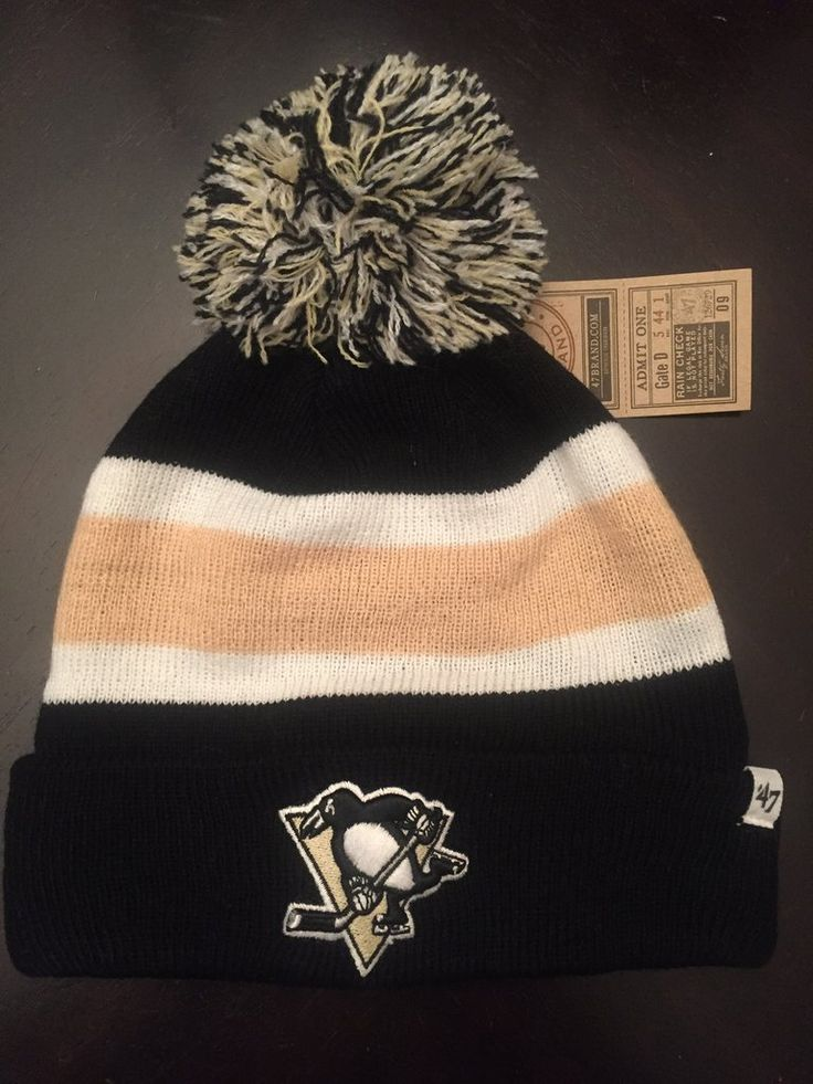 NHL Pittsburgh Penguins Cuffed Winter Hat with Pom  www.mancavesonline.com