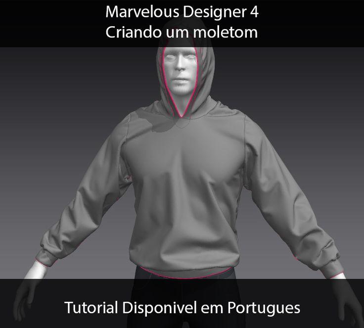 Marvelous Designer Tutorial 01 - Portuguese - MOLETON