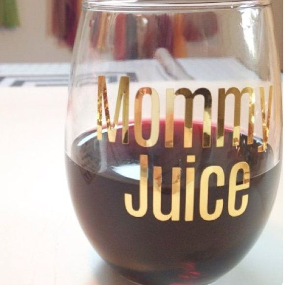Mommy juice wine glass 21 oz stemless wine glass. Laid with professional grade vinyl. Hand wash only. Do not microwave or soak. Northern Country Girl Designs Other