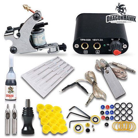 1 MACHINE PRO TATTOO STARTER KIT