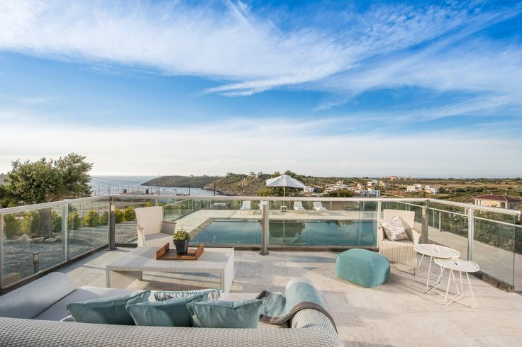 Four bedroom seaview luxurious Divine villas, Akrotiri | Cretico